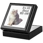 Meow Persian Cat Keepsake Box