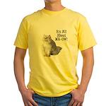 Meow Persian Cat Yellow T-Shirt