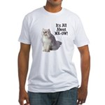 Meow Persian Cat Fitted T-Shirt
