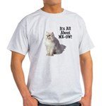Meow Persian Cat Light T-Shirt