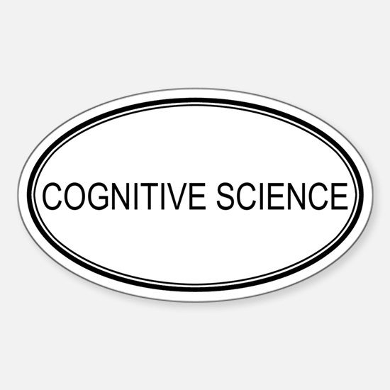 COGNITIVE SCIENCE Oval Decal