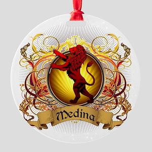 Medina Family Crest Round Ornament
