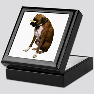 Brindle Boxer Photo Keepsake Box