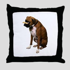 Brindle Boxer Photo Throw Pillow