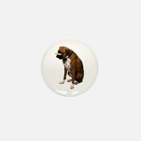 Brindle Boxer Photo Mini Button
