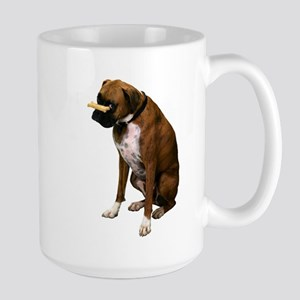 Brindle Boxer Photo Large Mug