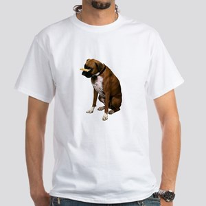 Brindle Boxer Photo White T-Shirt