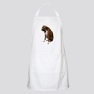 Brindle Boxer Photo BBQ Apron
