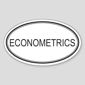 ECONOMETRICS Oval Sticker