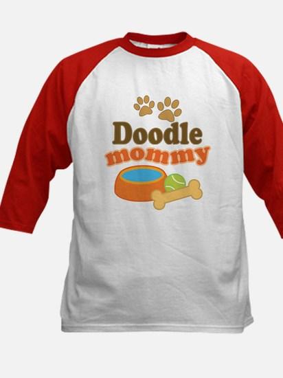 Doodle Mom Kids Baseball Jersey