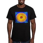 Spiral Sun Men's Fitted T-Shirt (dark)
