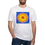 Spiral Sun Fitted T-Shirt