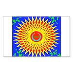 Spiral Sun Sticker (Rectangle 10 pk)