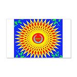 Spiral Sun 20x12 Wall Decal