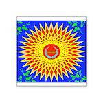 Spiral Sun Square Sticker 3