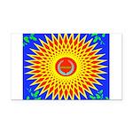 Spiral Sun Rectangle Car Magnet