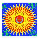 Spiral Sun Square Car Magnet 3