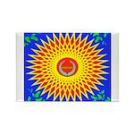 Spiral Sun Rectangle Magnet (100 pack)