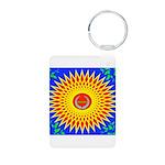 Spiral Sun Aluminum Photo Keychain