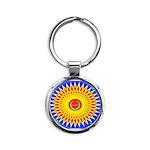 Spiral Sun Round Keychain
