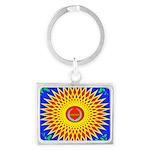 Spiral Sun Landscape Keychain
