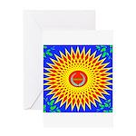 Spiral Sun Greeting Card
