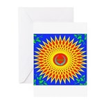 Spiral Sun Greeting Cards (Pk of 10)