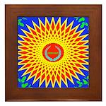 Spiral Sun Framed Tile
