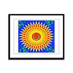 Spiral Sun Framed Panel Print
