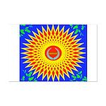 Spiral Sun Mini Poster Print
