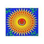 Spiral Sun Throw Blanket