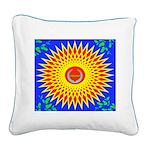 Spiral Sun Square Canvas Pillow
