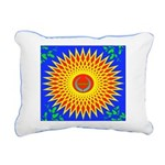Spiral Sun Rectangular Canvas Pillow