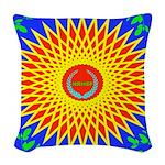 Spiral Sun Woven Throw Pillow