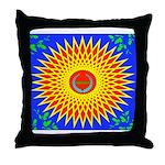 Spiral Sun Throw Pillow