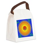 Spiral Sun Canvas Lunch Bag