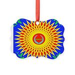 Spiral Sun Picture Ornament