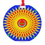 Spiral Sun Round Ornament