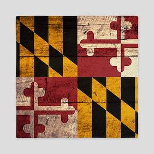 Wooden Maryland Flag3 Queen Duvet