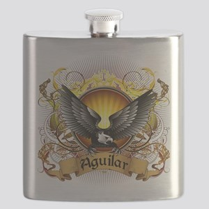 Aguilar Family Crest Flask