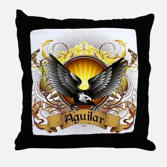 Aguilar Family Crest Throw Pillow