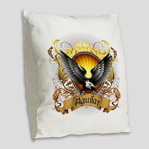 Aguilar Family Crest Burlap Throw Pillow