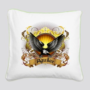 Aguilar Family Crest Square Canvas Pillow