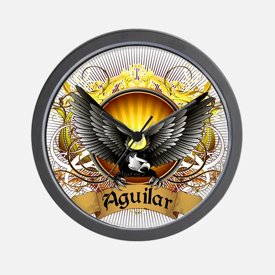Aguilar Family Crest Wall Clock