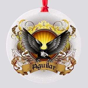 Aguilar Family Crest Round Ornament