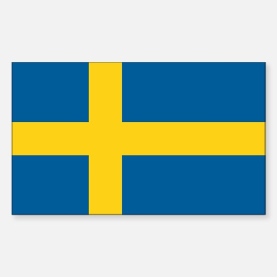 Sweden Flag Rectangle Decal