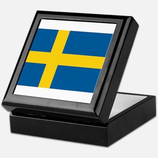 Sweden Flag Keepsake Box