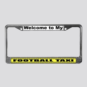 Mom's Football Taxi License Plate Frame