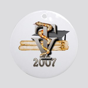 Vet Tech Grad 2007 Ornament (Round)