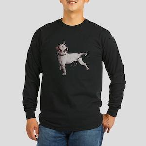 Pit Bull Photo Long Sleeve Dark T-Shirt